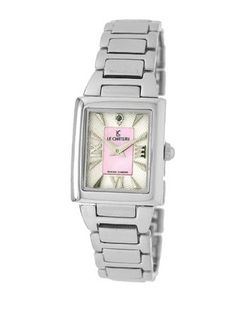 Le Chateau 1816LCL_WHTandPNK Diamond Accented All Steel