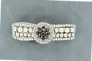 Lightning Ridge 29931 January Birthstone Concho Bracelet Garnet