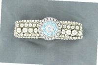 Lightning Ridge 29935 March Birthstone Concho Bracelet Aquamarine