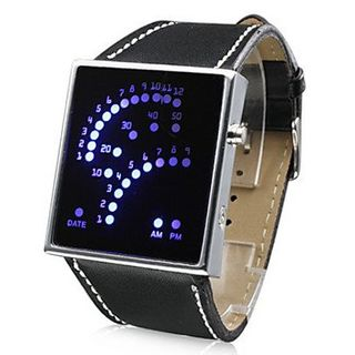 uLightning 29-Blue LED Pattern Style Wrist (Black)