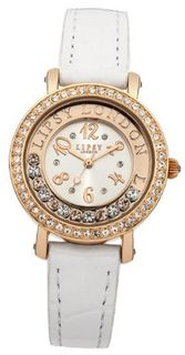 Lipsy LP153 Ladies Rose Gold and White