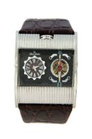 Louis Ardens Dakota Automatic Stainless Steel Xl Leather Strap