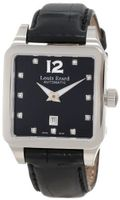 Louis Erard 20700AA12.BAV11 Emotion Square Automatic Black Alligater Leather Diamond
