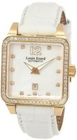 Louis Erard 20700OS34.BACS7 Emotion Square Automatic Rose Gold Alligater Leather Diamond
