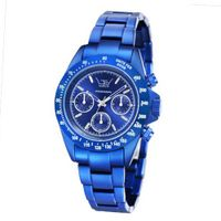 LTD Aluminium Collection Unisex Quartz with Blue Dial Chronograph Display and Blue Bracelet LTD 071901