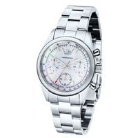 Ltd Ladies Quartz with Mother Of Pearl Dial Analogue Display and Silver Stainless Steel Bracelet LTD 340101