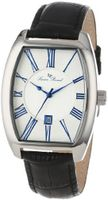 Lucien Piccard 10029-023S Grivola Ortlet Silver Dial Black Leather