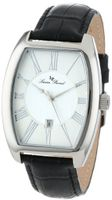 Lucien Piccard 10029-02S Grivola Ortlet Silver Dial Black Leather