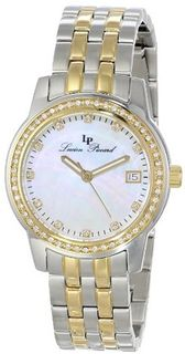 Lucien Piccard LP-12545-SG-22MOP Taney Analog Display Quartz Two Tone
