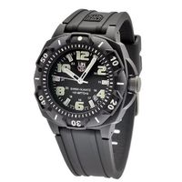 Luminox 0201.SL Sentry 0200 Black Case With Luminescent Accents, Black Rubber Band