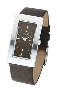 M&M Quartz M11840-525 with Leather Strap