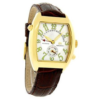 Magnus Monterrey Day/Date Automatic Gold Tone Brown Leather M110mgr45