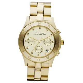 Marc Jacobs Chrono Glitz Gold Dial MBM3101