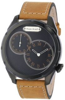 "Marc Ecko M12502G2 ""The Intersect"" Stainless Steel and Brown Leather"