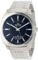 Marvin M022.13.41.11 Malton 160 Cushion Stainless Steel Bracelet Silver Dial