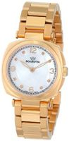 Marvin M022.52.77.52 Cushion Analog Display Swiss Quartz Rose Gold
