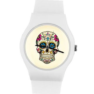 02:39PM Day of the Dead Colorful Skull May28th