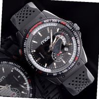 Clock Automatic Mechanical Rubber Wrist