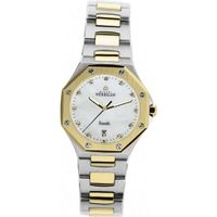 Lady's - Michel Herbelin Odyssee Diamonds - Stainless Steel and Gold Plated Band - W.R 10ATM - 14230.BT89