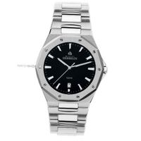 - Michel Herbelin - Stainless Steel Band and Black Dial - W.R 10ATM - 12231/B14