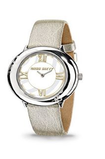 Miss Sixty Ladies Srk006 In Collection Fiesta, 2 H and S, White Dial and Gold Strap