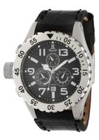 Momentus Black Leather Band Black Dial Chronograph TM246S-04BS