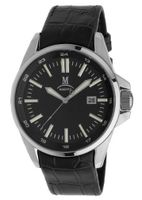 Momentus Black Leather Band & Black Dial Dress Wrist FD220S-04BS