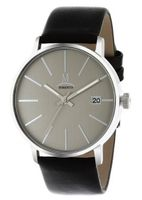 Momentus Black Leather Band & Gray Dial Date FD235S-03BS