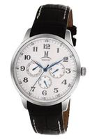 Momentus Black Leather Band & White Dial Chronograph FD240S-02BS