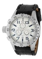 Momentus Black Leather Band White Dial Chronograph TM246S-02BS