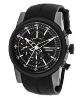 Automatic Chronograph Black Dial Black Rubber