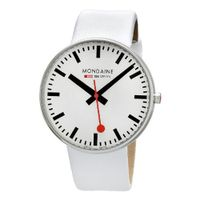 Mondaine A660.30328.11SBA Giant White Leather Band