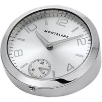 Mont Blanc Table Clock 102375 100mm Stainless Steel Case &