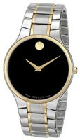 Movado 0606388 Serio Two-Tone Stainless-Steel Black Round Dial