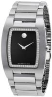 Movado 0606506 Fiero Tungsten Carbide Black Museum Dial with Diamonds