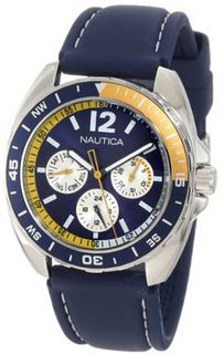 Nautica N09915G Sport Ring Multifunction Blue and Yellow Box Set