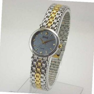NICOLET Round Two-Tone Gray Dial with Austrian Crystals. Model: NC-2002W