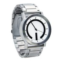 NOVO the ABSOLUTE Silver and White Big Face White Logo hour Dial
