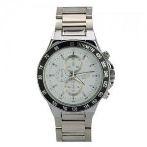 Big Fashionable Graceful Precision Waterproof Stainless Steel Quartz Movement Wrist
