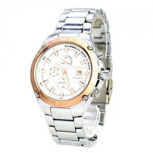 CURREN Quartz Movement Chronometer with Calendar/Round Dial/Metal Band/Waterproof-Rose golden dial