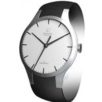 Blossom White Dial Black Leather