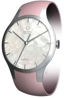 Confidence White Mother Of Pearl Dial Pink Leather