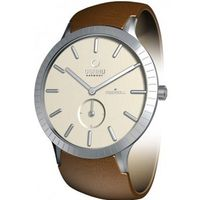 Infinity Cream Dial Brown Leather