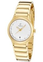 Infinity White Dial Gold Tone Ion Plated Stainless Steel