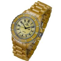 Oniss Ladies Citrine High Tech Ceramic Dress Mother of Pearl Dial
