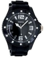 OOZOO C4340 black with stones on bezel extra big