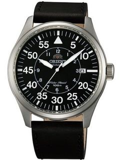 Orient 21-Jewel Automatic Aviator Flight with Black Leather Strap ER2A003B