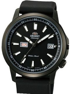 Orient 42mm Black PVD Stingray Day and Date Automatic with Black Dial EM7K003B
