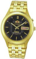 Orient #BEM5V001B Facet Glass Gold Tone Stainless Steel Automatic