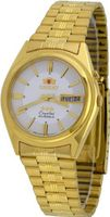 Orient #BEM6Q00AW Gold Tone Stainless Steel Tri Star Silver Dial Automatic